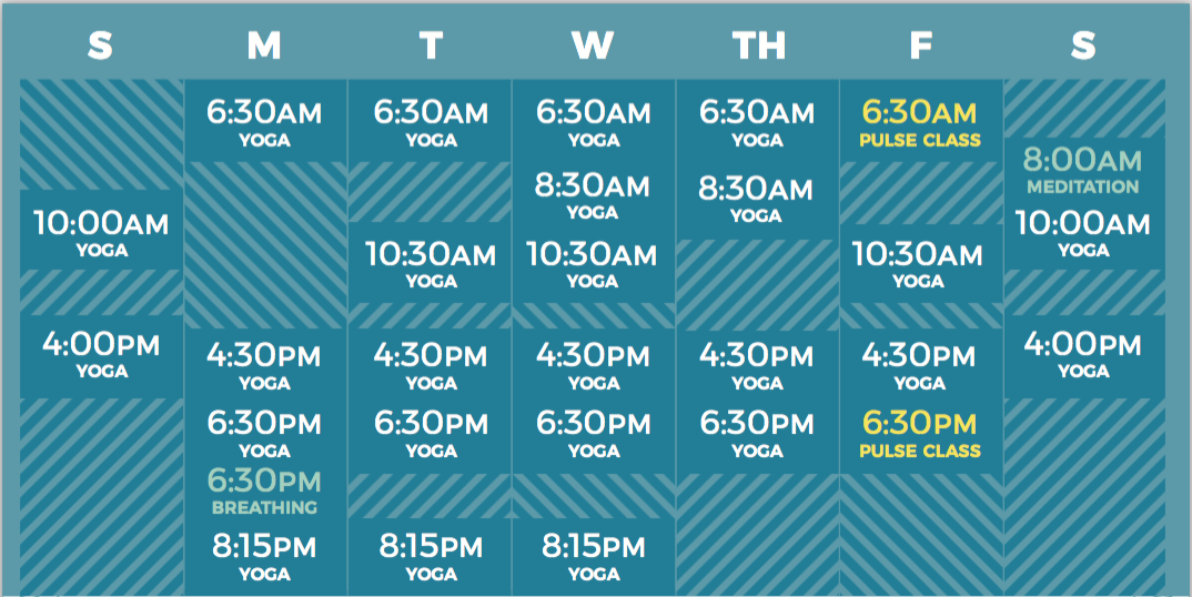Yoga downtown NYC schedule